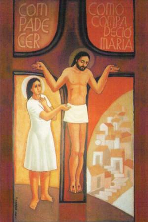 María con compasión