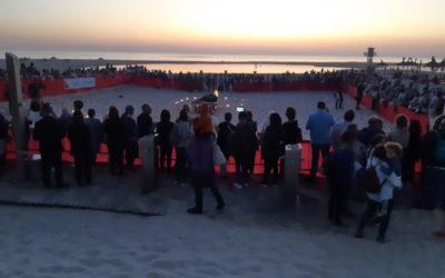 Veillée de priére sur la plage de los Lances – Tarifa